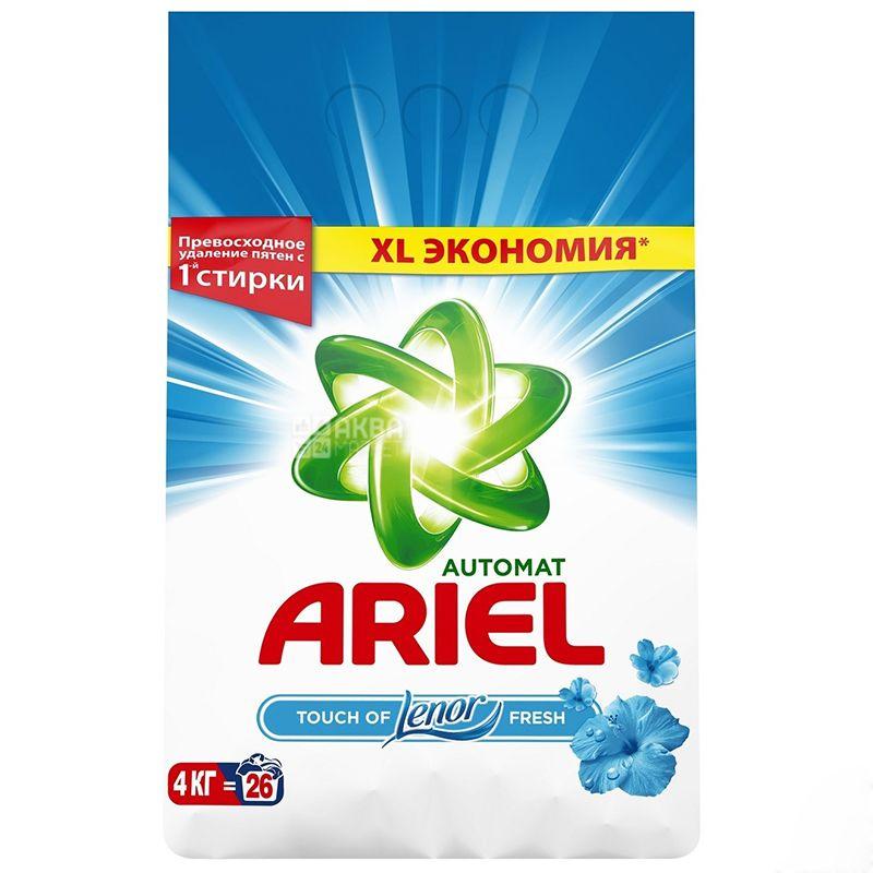 Ariel Touch of Lenor Fresh, Стиральный порошок, Автомат, Ленор эффект, 4 кг