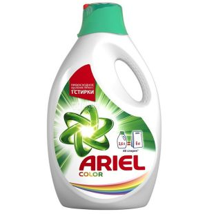 Ariel Color, Жидкий стиральный порошок, 2,6 л