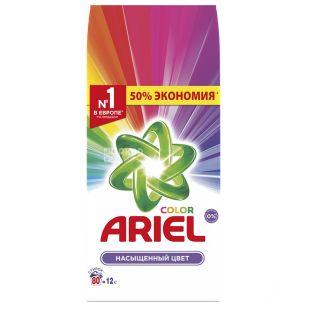 Ariel Color, Пральний порошок, Автомат, Насичений колір, 12 кг