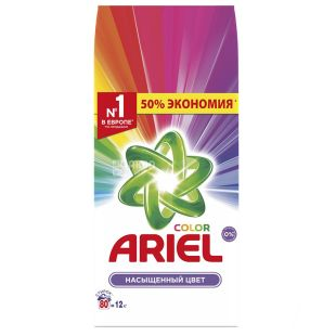 Ariel Color, Стиральный порошок, Автомат, Насыщенный цвет, 12 кг