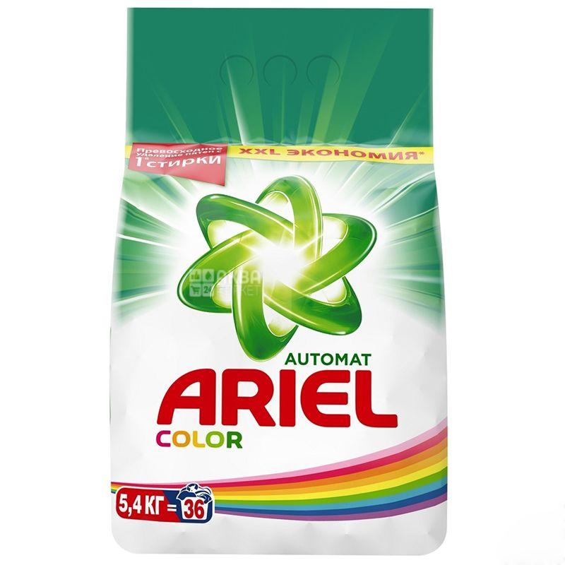 Ariel Color, Стиральный порошок, Автомат, Насыщенный цвет, 5,4 кг