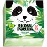 Snow Panda table napkins green 24x24cm, 50 pcs, polypropylene packaging
