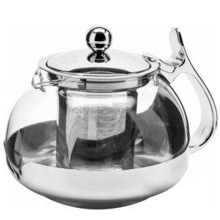 Krauff 26-177-001 Чайник заварочный, стекло, сталь, 700мл