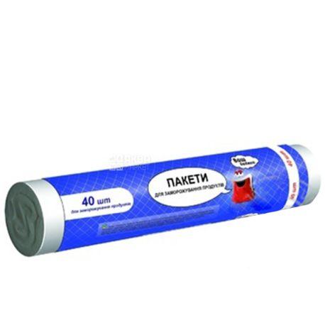 Vash Budget, 40 шт., пакеты для заморозки, м/у
