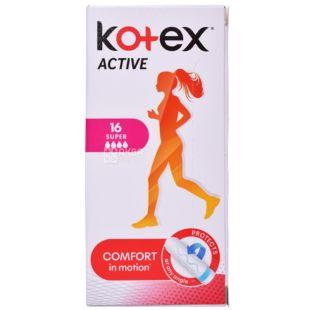 Кotex Active Super Гигиенические тампоны, 16шт, картонная коробка