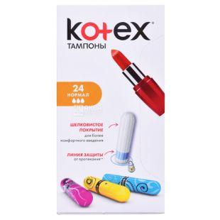 Kotex Normal Гигиенические тампоны, 24шт, картонная коробка