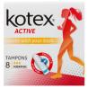 Кotex Active Normal Гігієнічні тампони, 8шт, картонна коробка