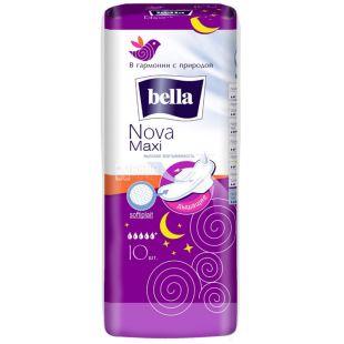 Bella Nova Maxi Гігієнічні прокладки, 10шт, м'яка упаковка