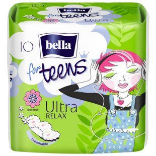 Bella for Teens: Ultra Relax Гігієнічні прокладки, 10шт, м'яка упаковка