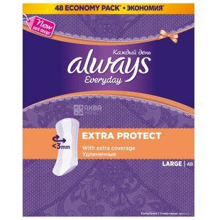 Always Large Щоденні гігієнічні прокладки, 48шт, картонна коробка