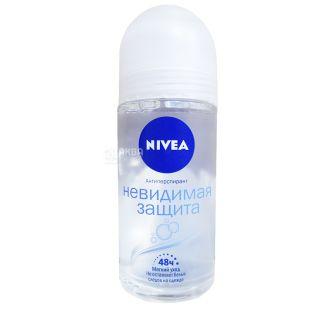Nivea, 50 мл, дезодорант шариковый антиперспирант, Невидимая защита