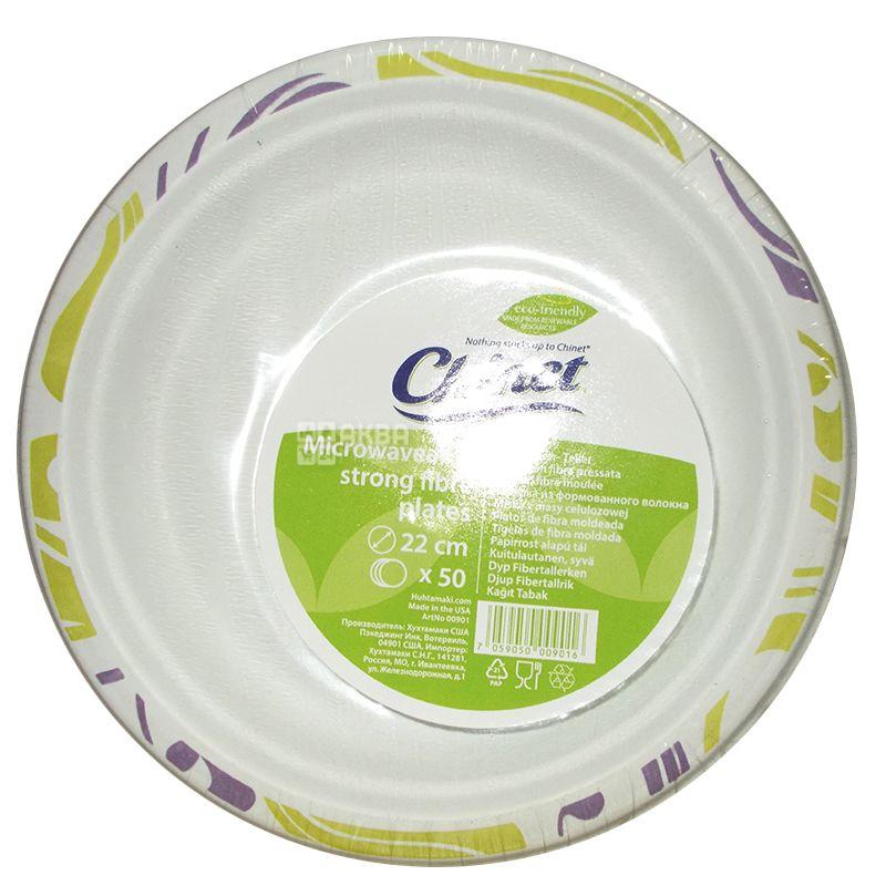 Chinet Flavor, Oval paper plate Ø19 cm, 50 pcs.