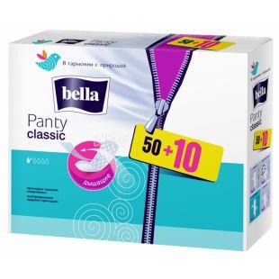 Bella Panty Classic, Прокладки щоденні, 1 капля, 50+10 шт., картон