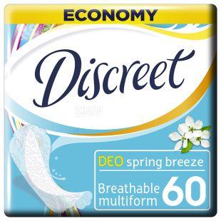 Discreet Deo Spring Breeze, Прокладки щоденні, 60 шт., картон