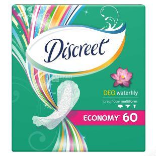 Discreet Deo Water Lily, Прокладки щоденні, 60 шт., картон