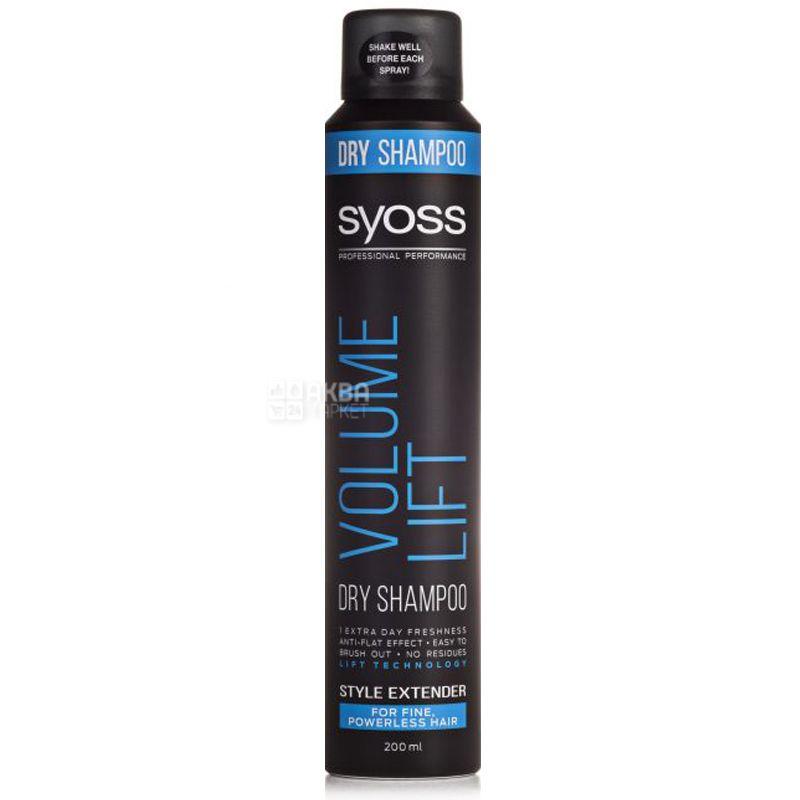 Syoss Volume Сухой шампунь для ослабленных волос, 200мл, пластик