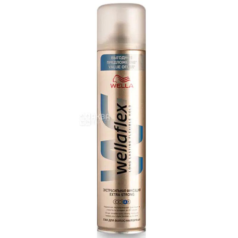 Wellaflex, 400 мл, Лак для волосся, Екстрасильна фіксація