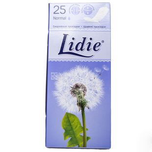 Lidie Normal, Прокладки ежедневные, 1 капля, 25 шт., картон