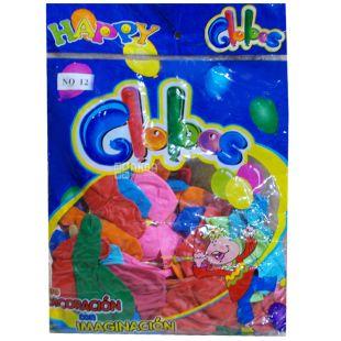 Воздушный шар латексный, 45 см, 100 шт, 9 цветов ассорти, пакет