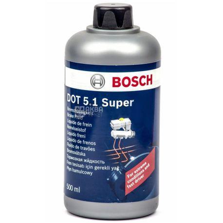 Bosch DOT 5.1 Тормозная жидкость, 0.5л, канистра