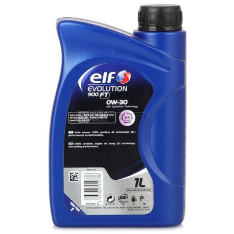 ELF EVOLUTION 900 FT 0W-30 Моторное масло, 1л, канистра