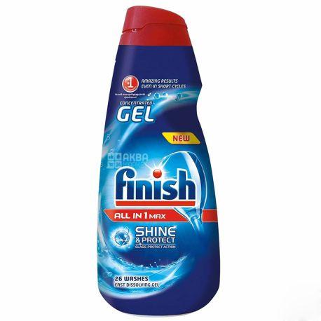 Finish Gel, Гель для миття посуду, Для посудомийної машини, 650 мл