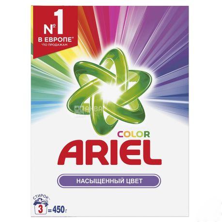 Ariel Color, Стиральный порошок, Автомат, Насыщенный цвет, 450 г