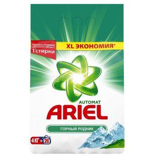Ariel, Стиральный порошок, Автомат, Горный родник, 4 кг