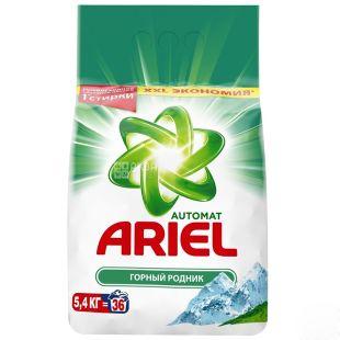Ariel, Стиральный порошок, Автомат, Горный родник, 5,4 кг