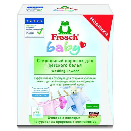 Frosch Baby, Стиральный порошок, Для детского белья, 1 кг