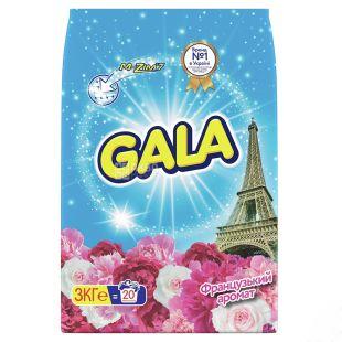 Gala, Пральний порошок, Автомат, Французький аромат, 3 кг