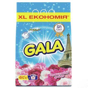 Gala, Стиральный порошок, Автомат, Французский аромат, 4 кг