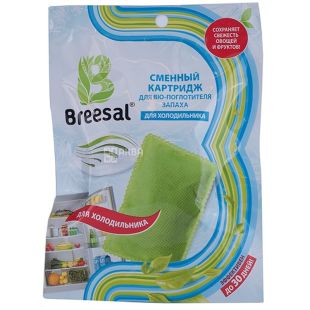 Breesal, Replaceable cartridge, For the bio-odor absorber, For the refrigerator, 80 g