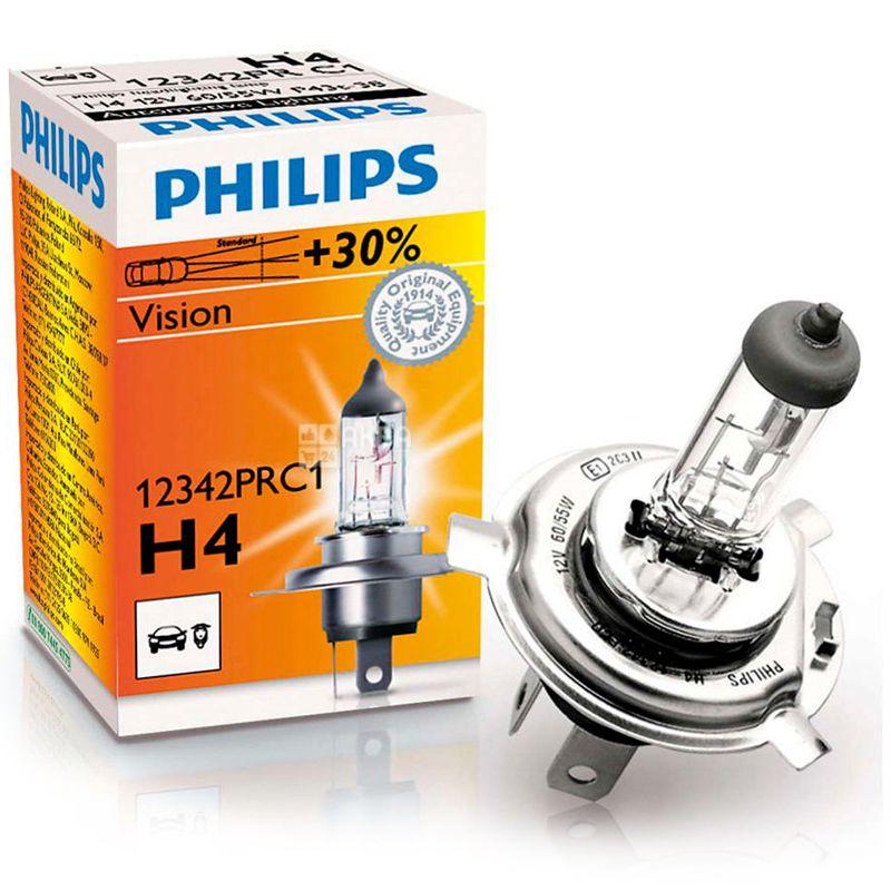 Philips Cristal Vision H4 12342CVS2 P43t-38 60 / 55W 12V Halogen spotlight, cardboard