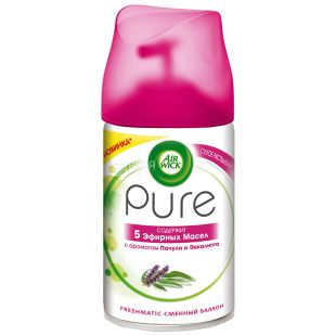 Air Wick Pure, Replacement Bottle, Patchouli and Eucalyptus, 250 ml