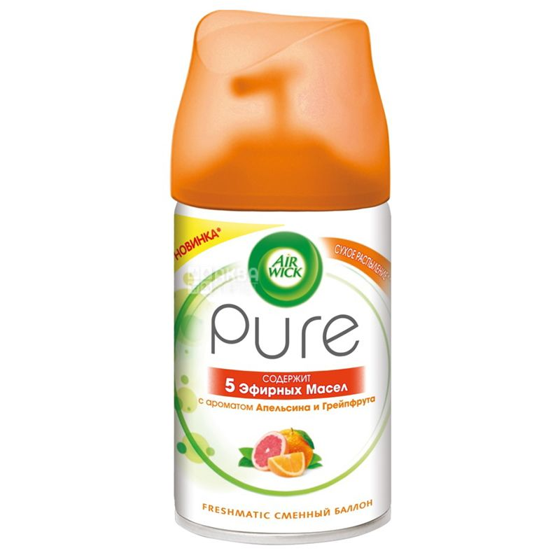 Air Wick Pure, Сменный баллон, Апельсин и Грейпфрут, 250 мл