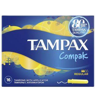 Tampax Super Plus Duo, Тампоны с аппликатором, 2 капли, 16 шт., картон