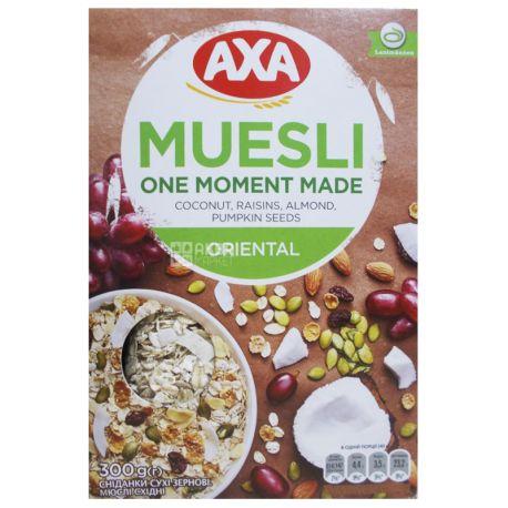 AXA, Oriental, 300 г, Мюслі, з 4-х видів злаків, східні, сухий сніданок, швидкого приготування