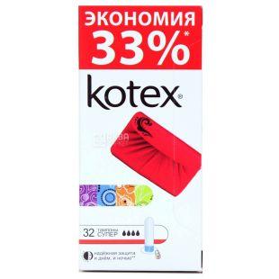 Kotex Super Гигиенические тампоны, 32шт, картонная коробка