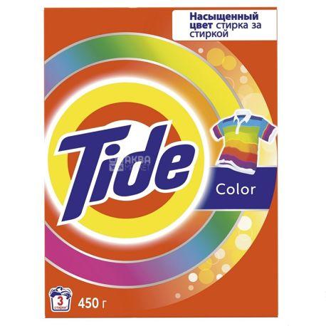 Tide Color, Порошок стиральный автомат, 450 г, картон