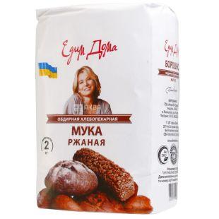 Едим дома, Мука ржаная, обдирная, высший сорт, 2 кг