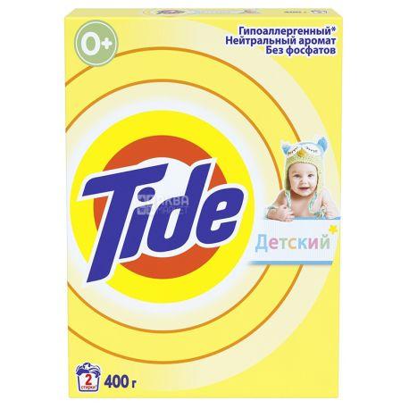 Tide, Стиральный порошок для чувствительной и детской кожи автомат, 400 г, картон