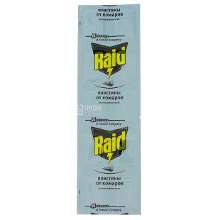 Raid, Пластини від комарів, Для фумігатора, Упаковка 10 шт.