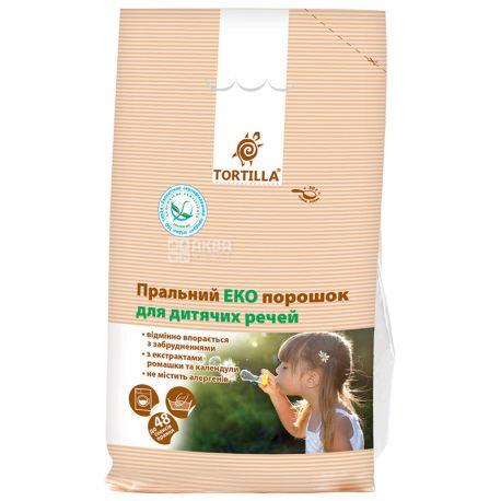 Tortilla, Порошок стиральный эко для детских вещей, 2,4 кг, м/у