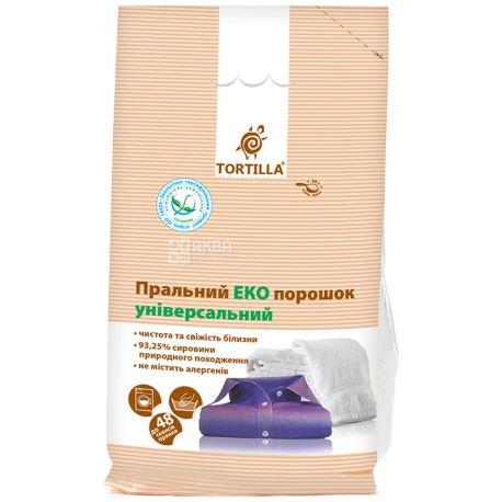 Tortilla, Порошок стиральный эко универсальный, 2,4 кг, м/у