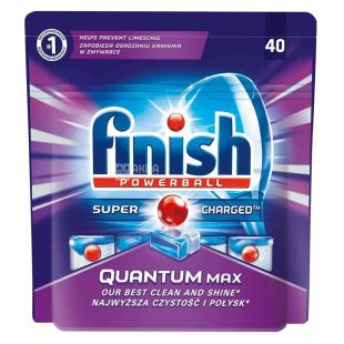 Finish Quantum, Таблетки для посудомийної машини, 40 шт., м/у