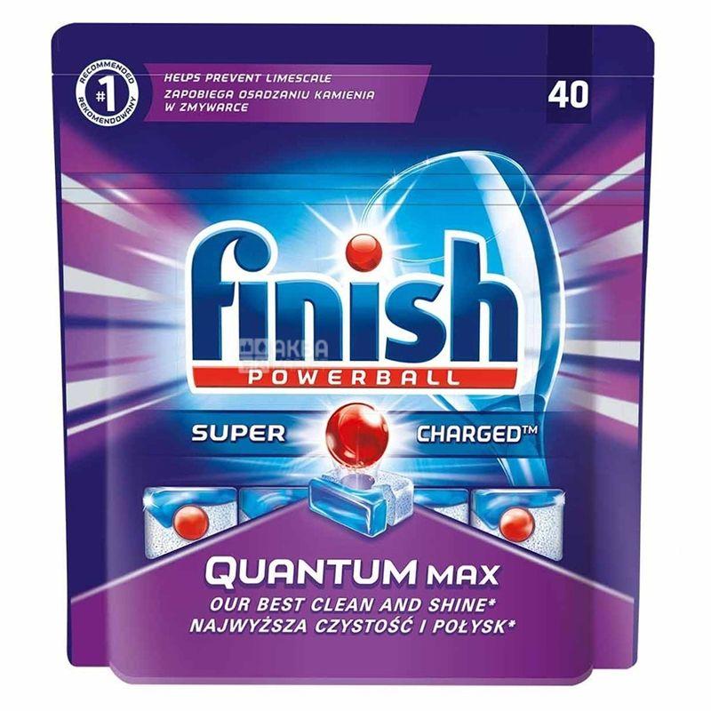 Finish Quantum, Таблетки для посудомоечной машины, 40 шт., м/у