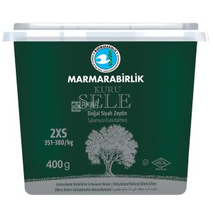 Marmarabirlik 2XS Kuru Sele Black Dried Olives, 400 g, PET