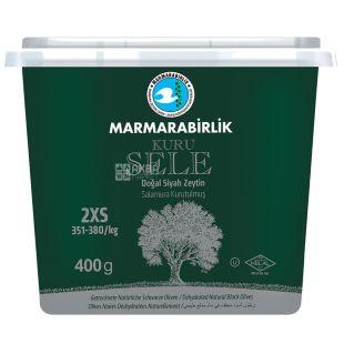Marmarabirlik 2XS Kuru Sele Маслини в'ялені чорні, 400 г, ПЕТ