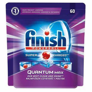 Finish Quantum Powerball Max, Таблетки для посудомоечной машины, 60 шт., м/у